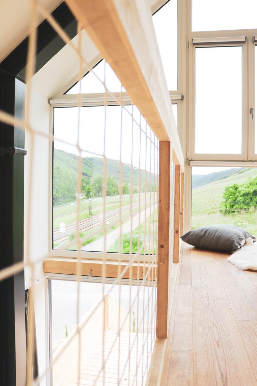 Ferienhaus Mosel Chalet Empore mit Netz